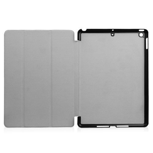 "Image of   iPad 9.7 (2017 / 2018) - Læder cover tri fold stand - ""Dont touch my pad"""