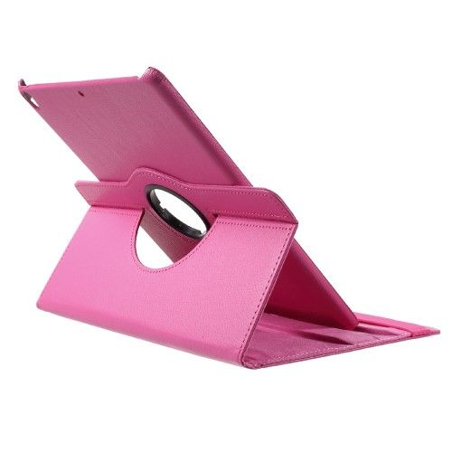 "Image of   iPad Pro 10.5"" - Pu læder roterbar cover Litchi skind - Rose"