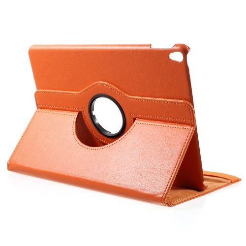 "Image of   iPad Pro 10.5"" - Pu læder roterbar cover Litchi skind - Orange"