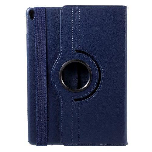 "Image of   iPad Pro 10.5"" - Pu læder roterbar cover Litchi skind - Mørkeblå"