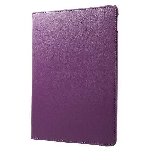 "Image of   iPad Pro 10.5"" - Pu læder roterbar cover Litchi skind - Lilla"