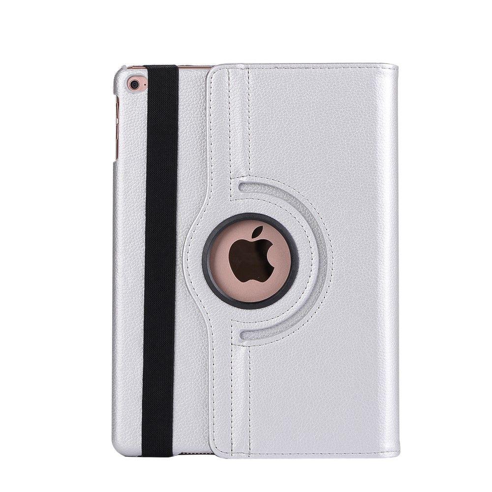 Image of   iPad 9.7 (2017) - Pu læder cover m/stand Litchi skin - Sølv