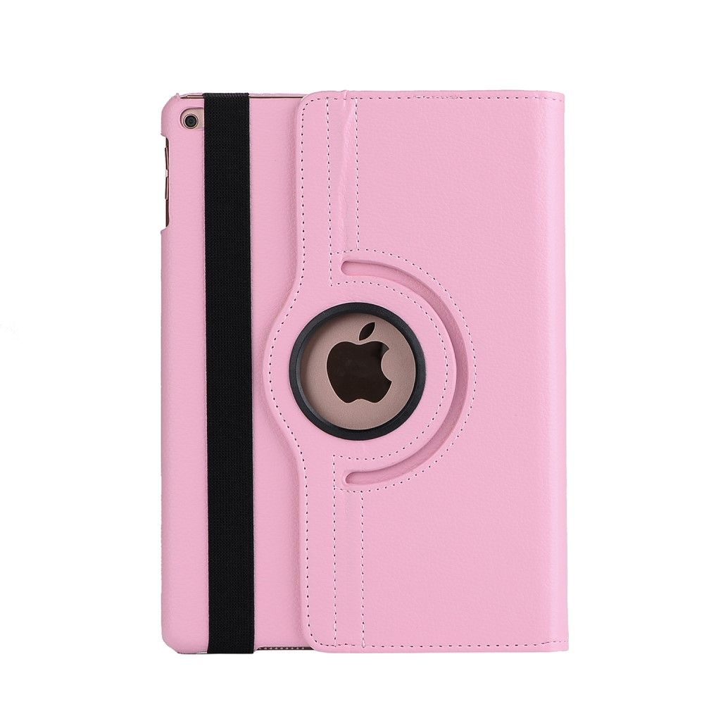 Image of   iPad 9.7 (2017) - Pu læder cover m/stand Litchi skin - Dyb lyserød