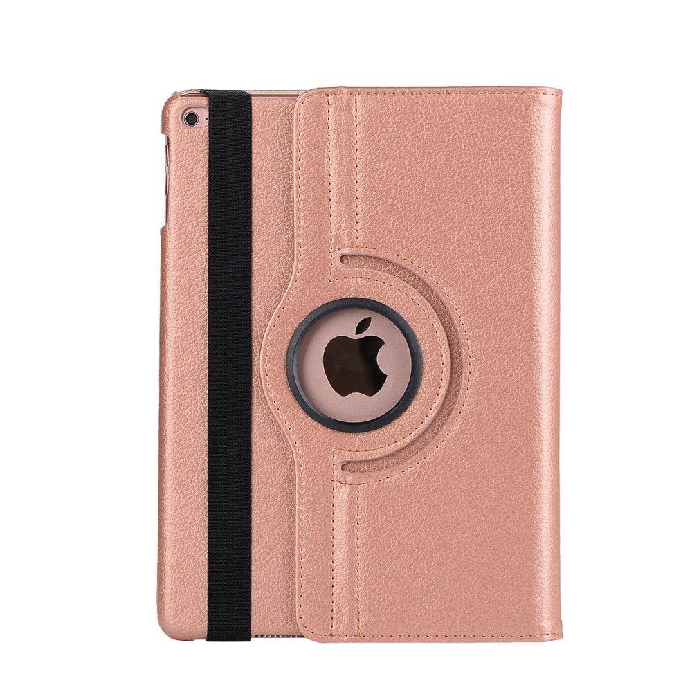 Image of   iPad 9.7 (2017) - Pu læder cover m/stand Litchi skin - Rose guld