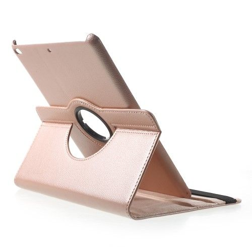 Image of   iPad 9.7 (2017 / 2018) - Pu læder cover roterbar m/stand - Rose guld