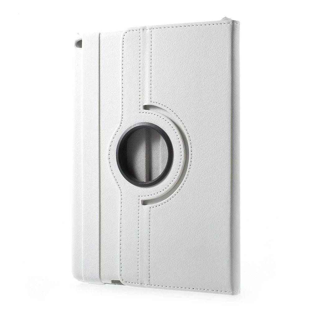 Image of   iPad 9.7 (2017) - Pu læder cover - Litchi skind m/stand - Hvid