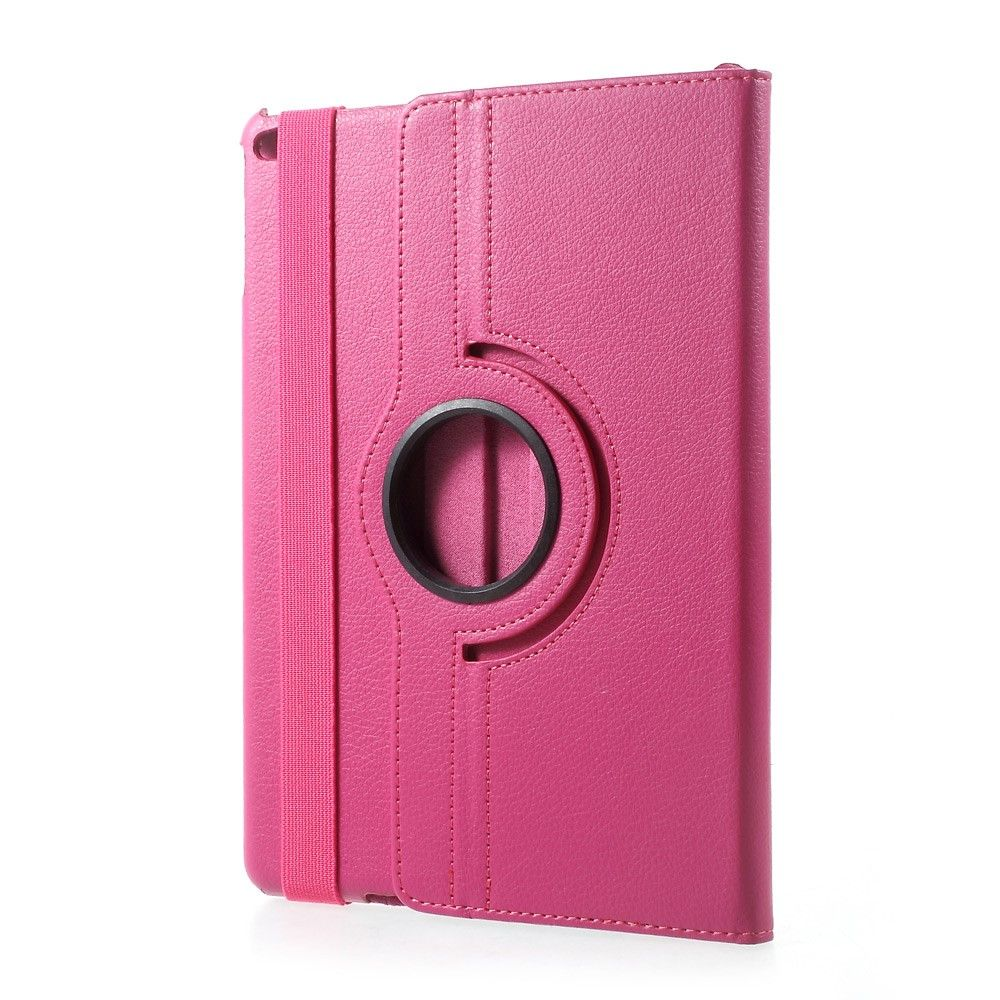Image of   iPad 9.7 (2017 / 2018) - Pu læder cover - Litchi skind m/stand - Rose