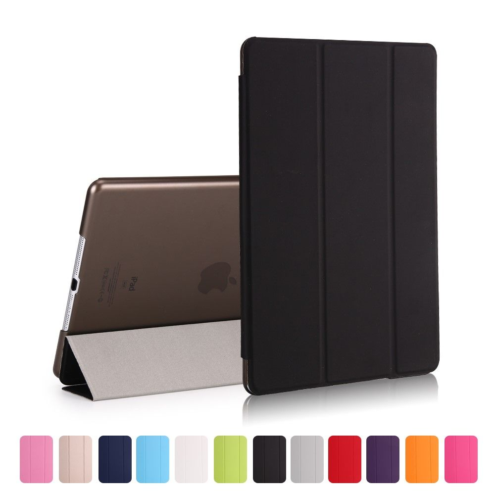 Image of   iPad 9.7 (2017 / 2018) - Pu læder cover Tri-fold stand - Sort