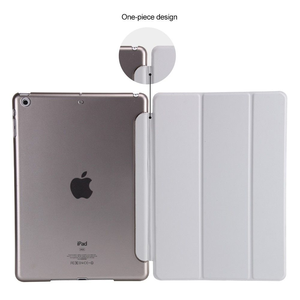 Image of   iPad 9.7 (2017) - Pu læder cover Tri-fold stand - Grå
