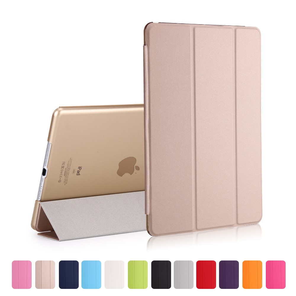 Image of   iPad 9.7 (2017) - Pu læder cover Tri-fold stand - Guld