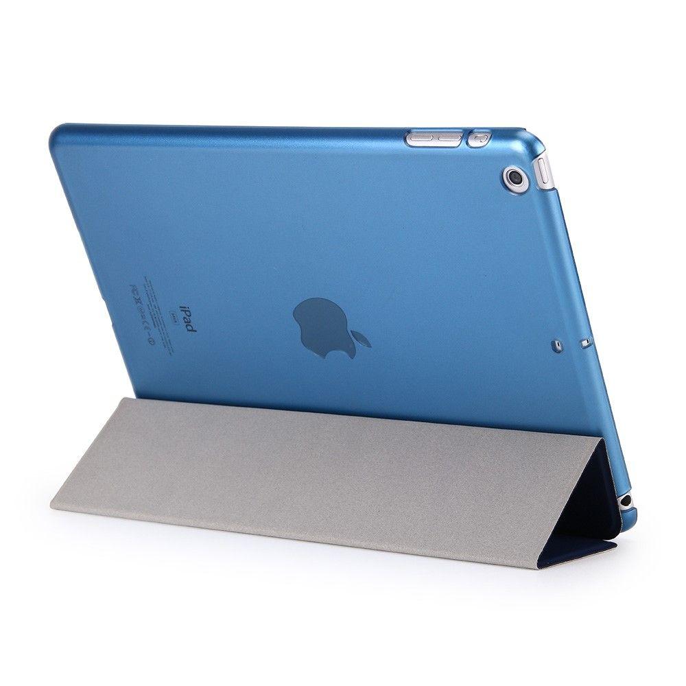 Image of   iPad 9.7 (2017) - Pu læder cover Tri-fold stand - Mørkeblå
