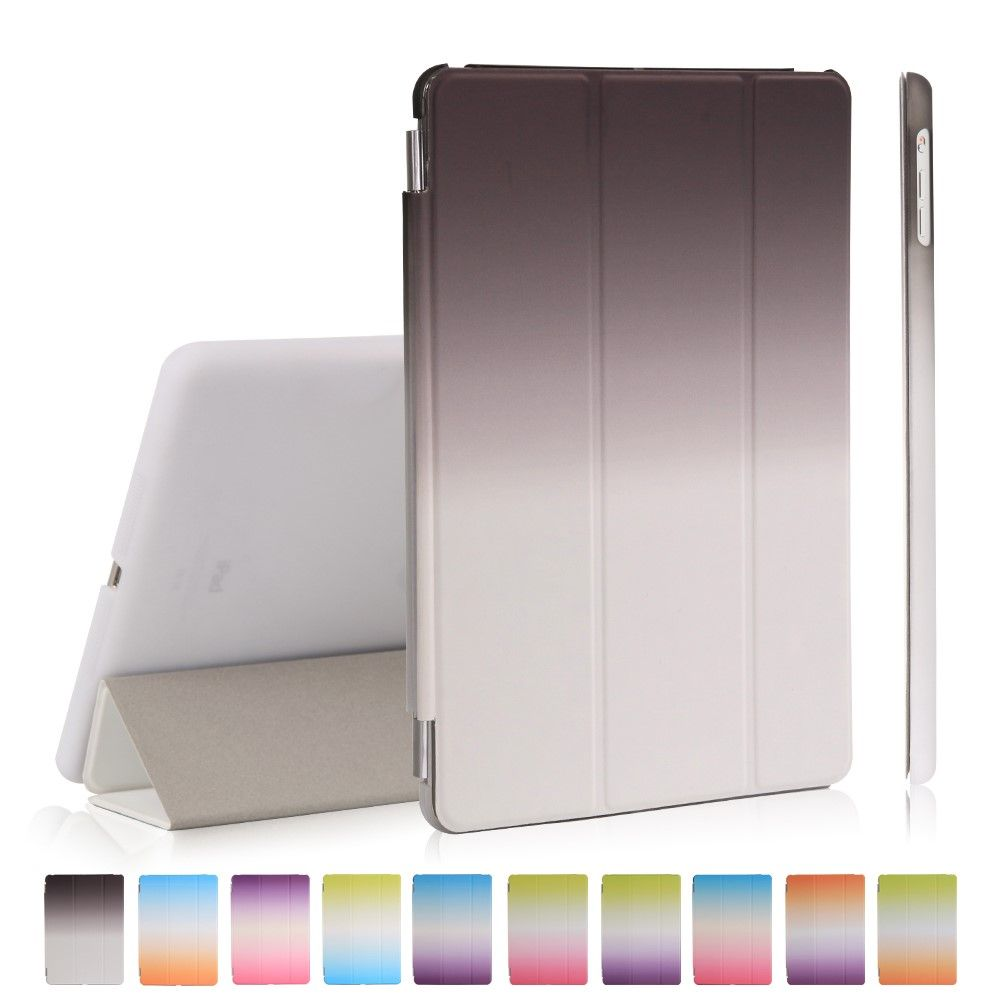 Image of   iPad 9.7 (2017 / 2018) - Tri-Fold smart læder cover - Sort/Hvid