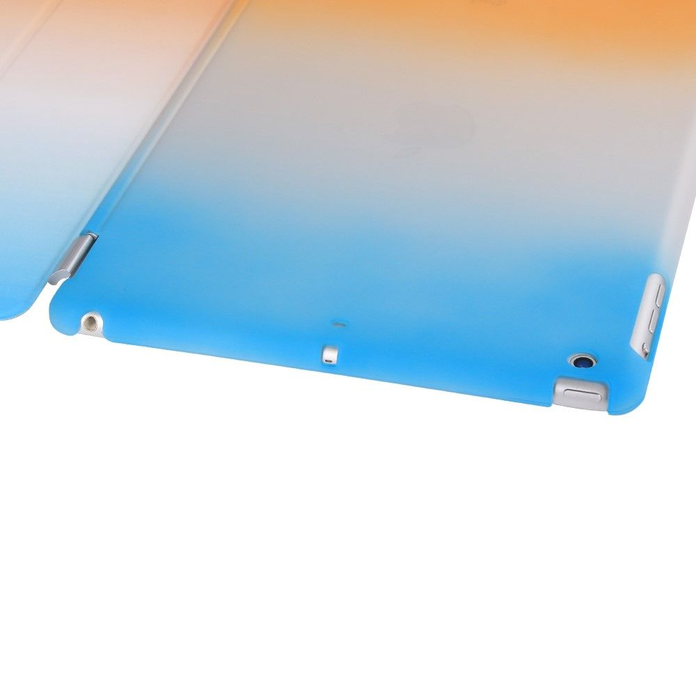 Image of   iPad 9.7 (2017) - Tri-Fold smart læder cover - Blå/Orange