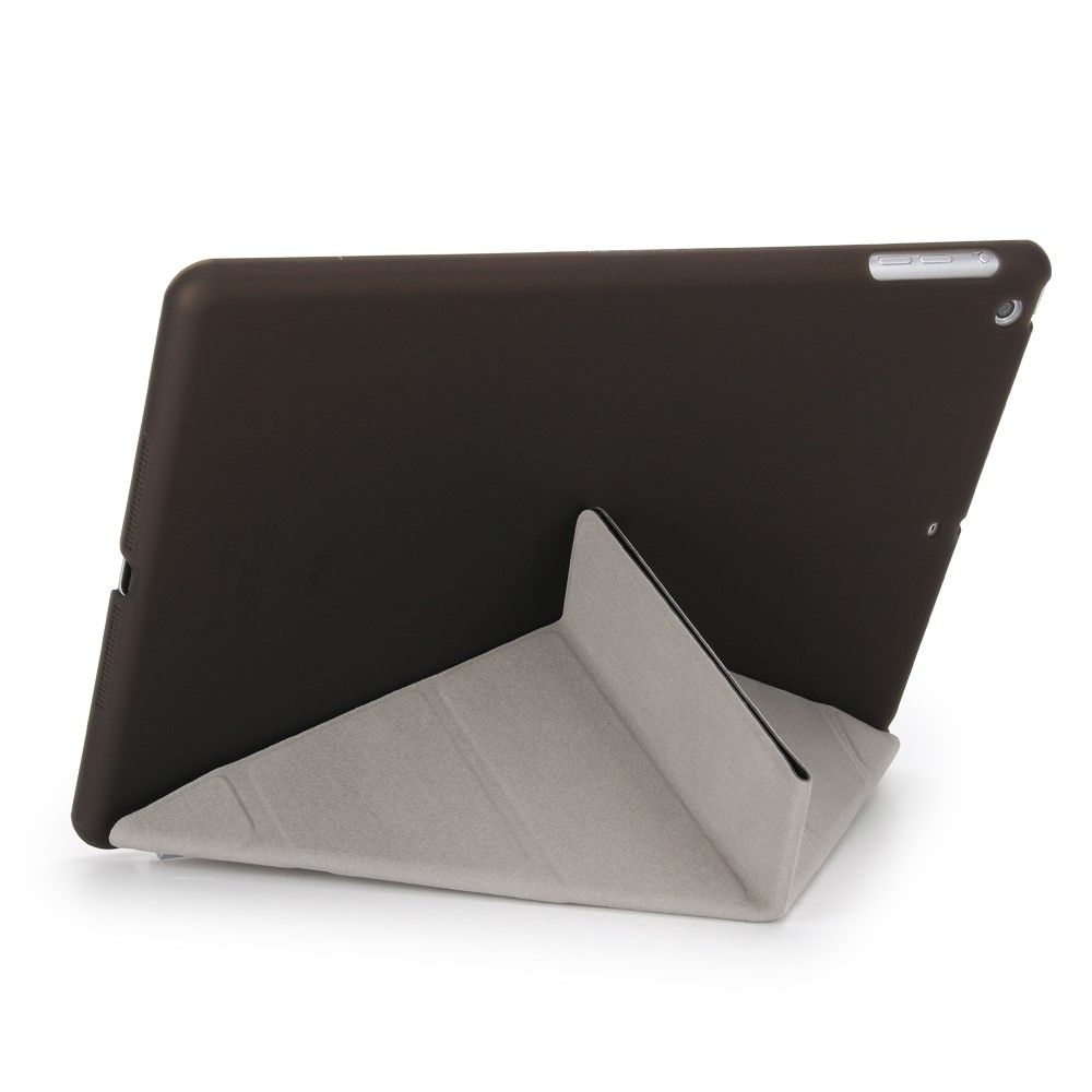Image of   iPad 9.7 (2017 / 2018) Origami 2-i-1 læder cover / etui - Sort