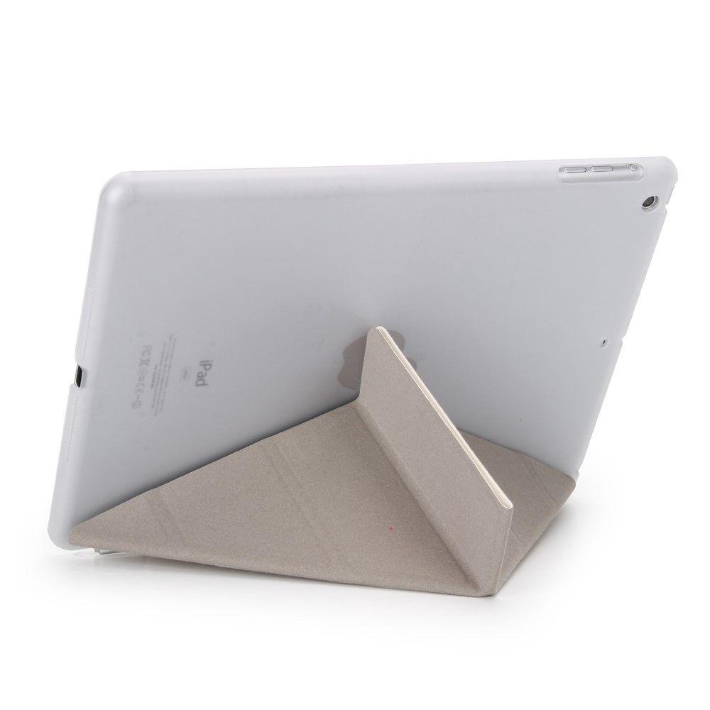 Image of   iPad 9.7 (2017 / 2018) - Origami 2-i-1 læder cover / etui - Hvid