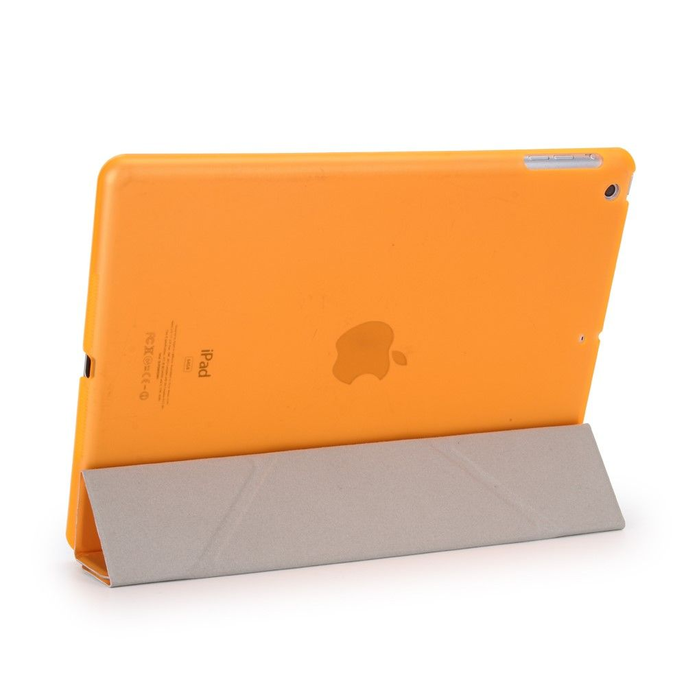 Image of   iPad 9.7 (2017 / 2018) - Origami 2-i-1 læder cover / etui - Orange