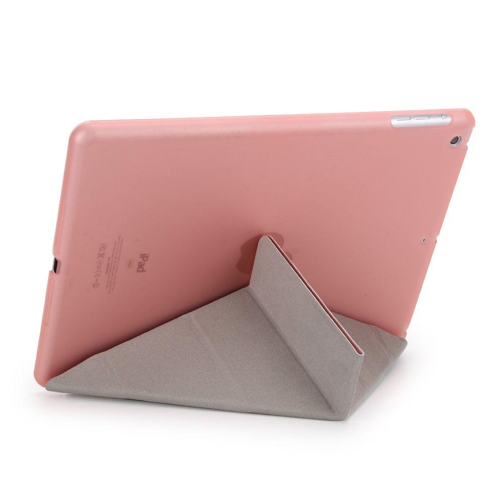 Image of   iPad 9.7 (2017) - Origami 2-i-1 læder cover / etui - Rosa guld