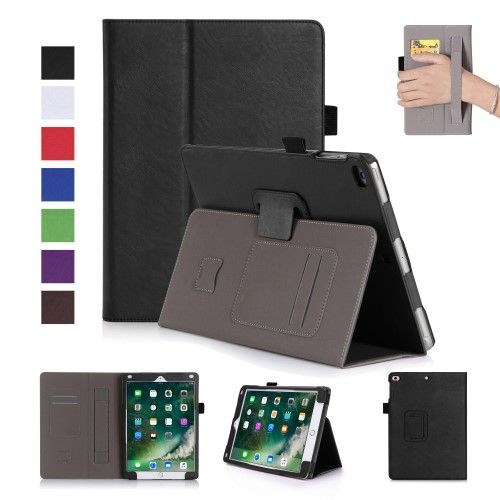 Image of   iPad 9.7 (2017/2018) - læder smart cover/etui m. sleep/wake - Sort