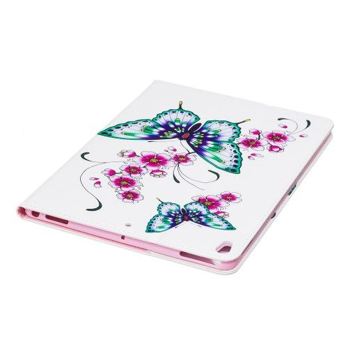 "Image of   iPad Pro 10.5"" - Pu læder cover med print - Blomster/sommerfugle"