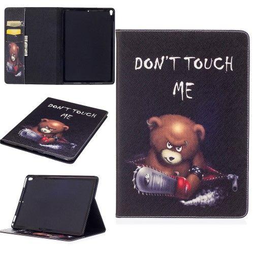 """Image of   iPad Pro 10.5"""" - Pu læder cover med print - Brun bjørn"""