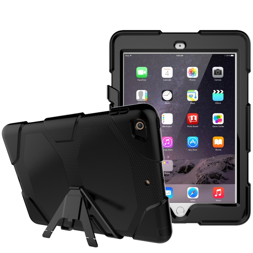 Image of   iPad 9.7 (2017) - Military shockproof cover m/skærmbeskytter - Sort