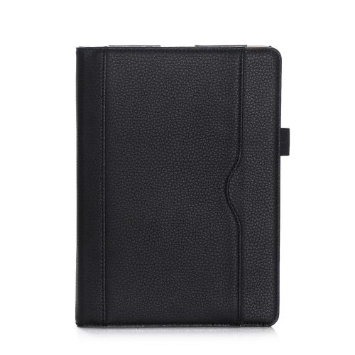 "Image of   iPad 9.7 (2017 / 2018) - læder cover ""Business style"" - Sort"