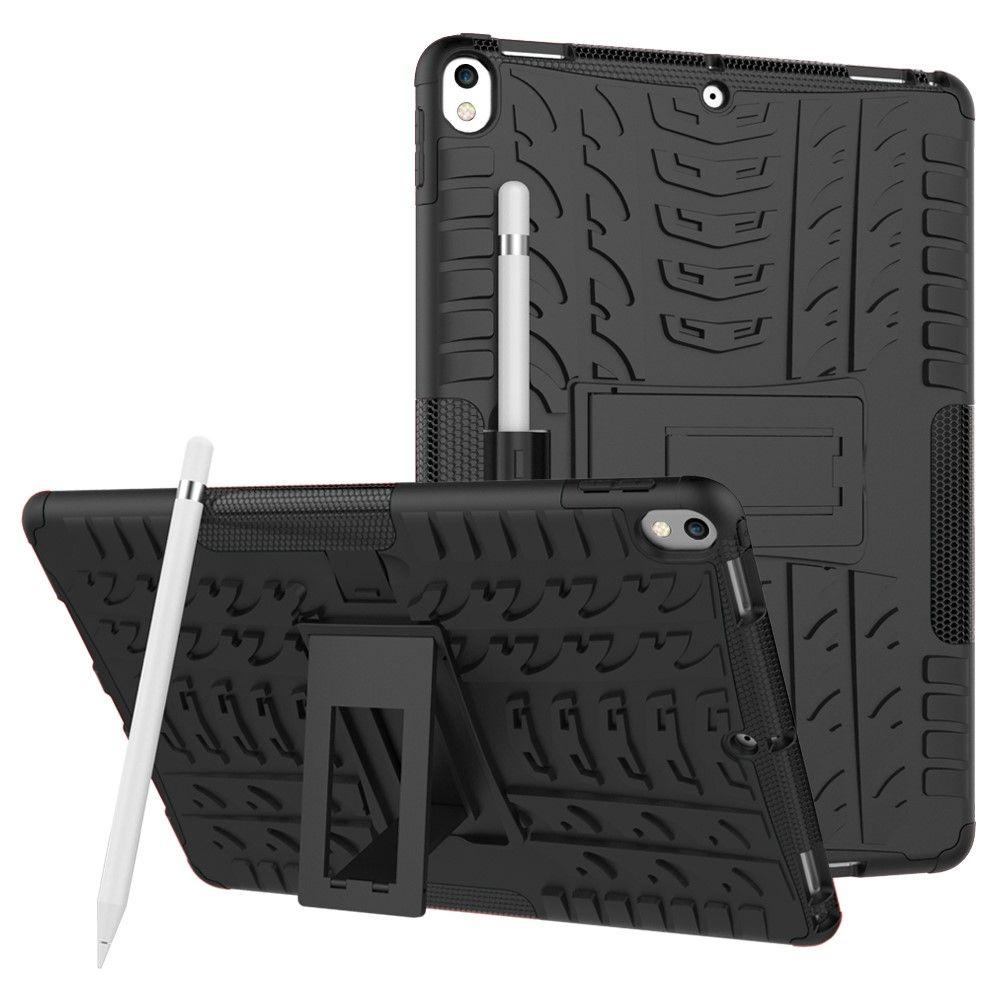 Image of   iPad Pro 10.5 - TPU + pc hybrid cover med dæk design - Sort