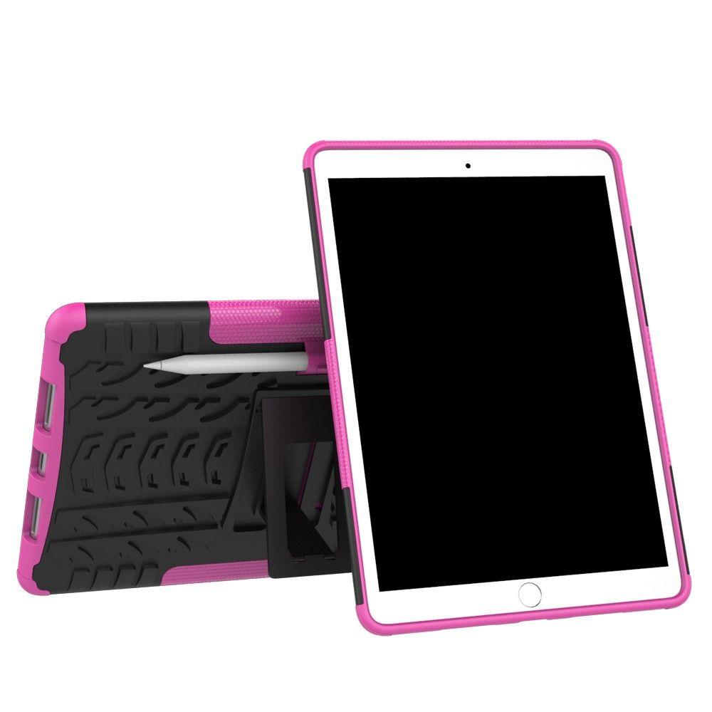 Image of   iPad Pro 10.5 - TPU + pc hybrid cover med dæk design - Rosa