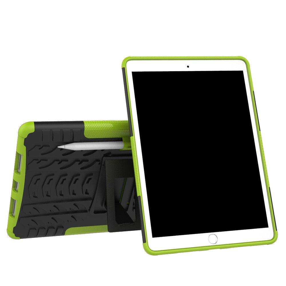 Image of   iPad Pro 10.5 - TPU + pc hybrid cover med dæk design - Grøn