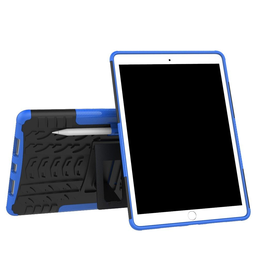 Image of   iPad Pro 10.5 - TPU + pc hybrid cover med dæk design - Blå