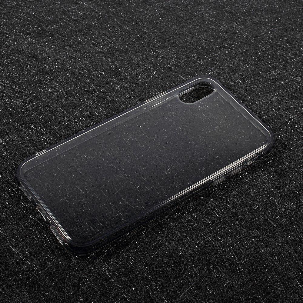 Image of   iPhone X - TPU blødt klart cover - Grå