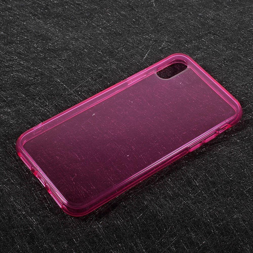 Image of   iPhone X - TPU blødt klart cover - Rosa
