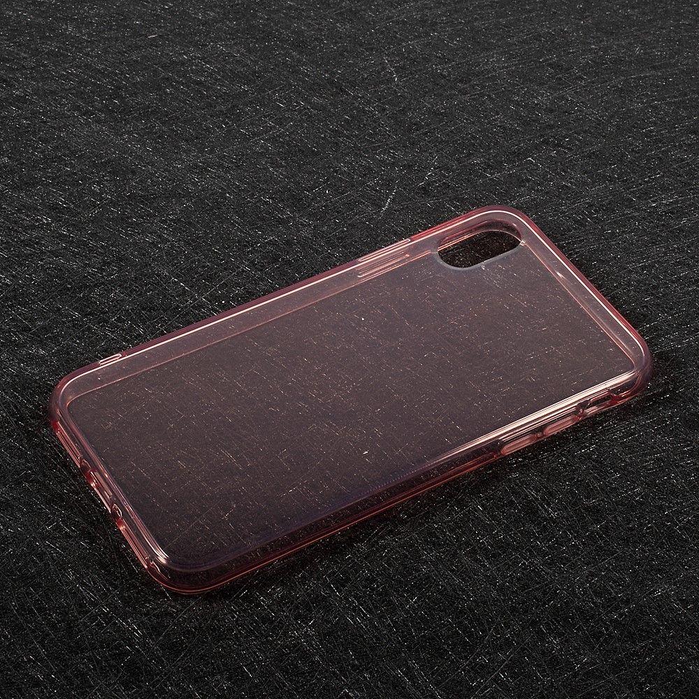 Image of   iPhone X - TPU blødt klart cover - Pink