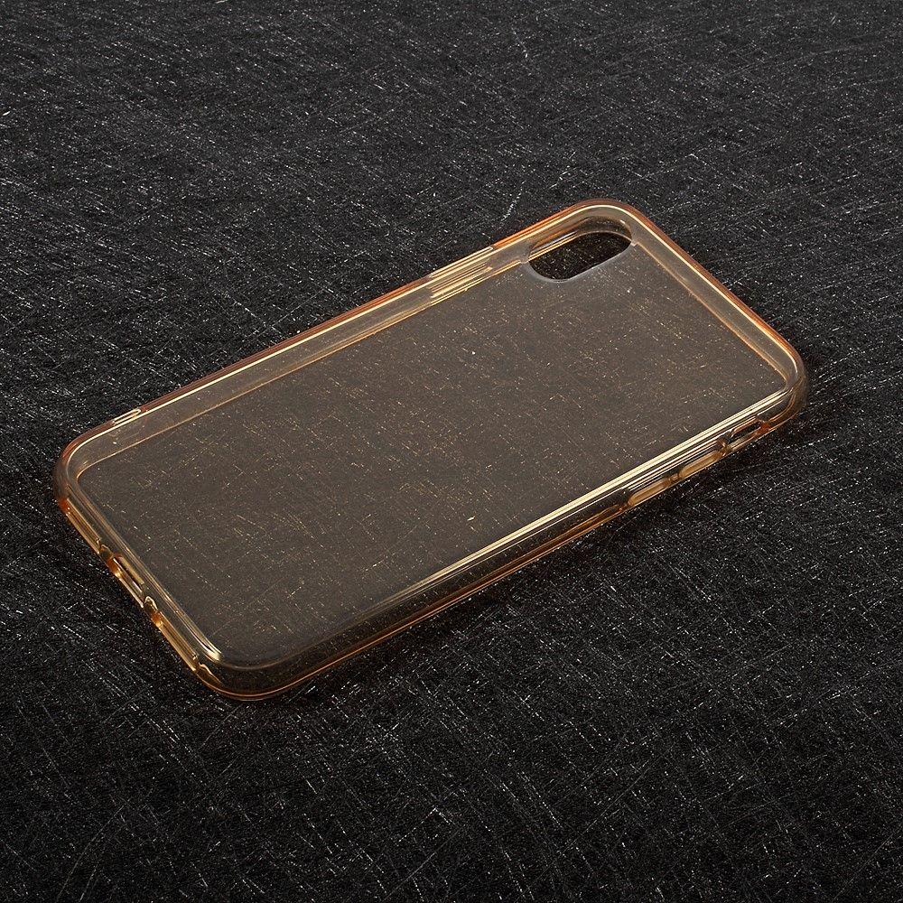 Image of   iPhone X - TPU blødt klart cover - Guld