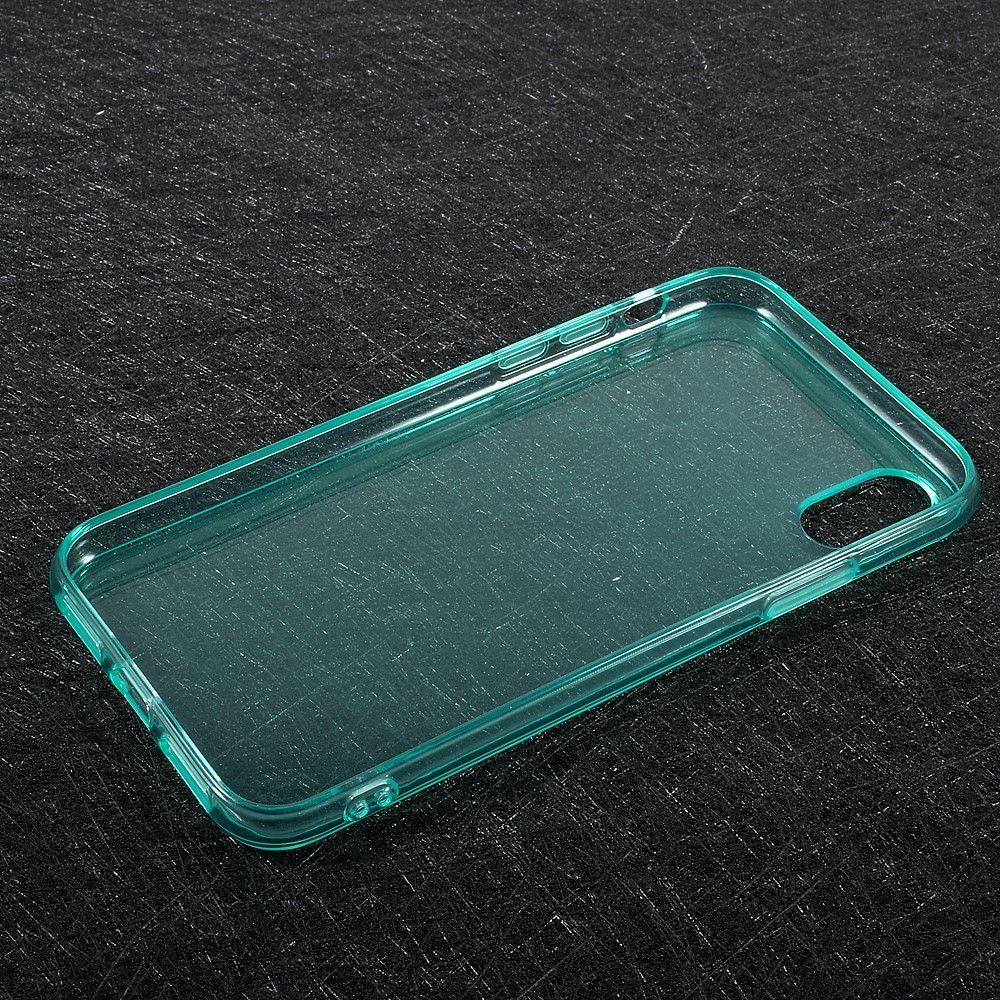 Image of   iPhone X - TPU blødt klart cover - Cyan