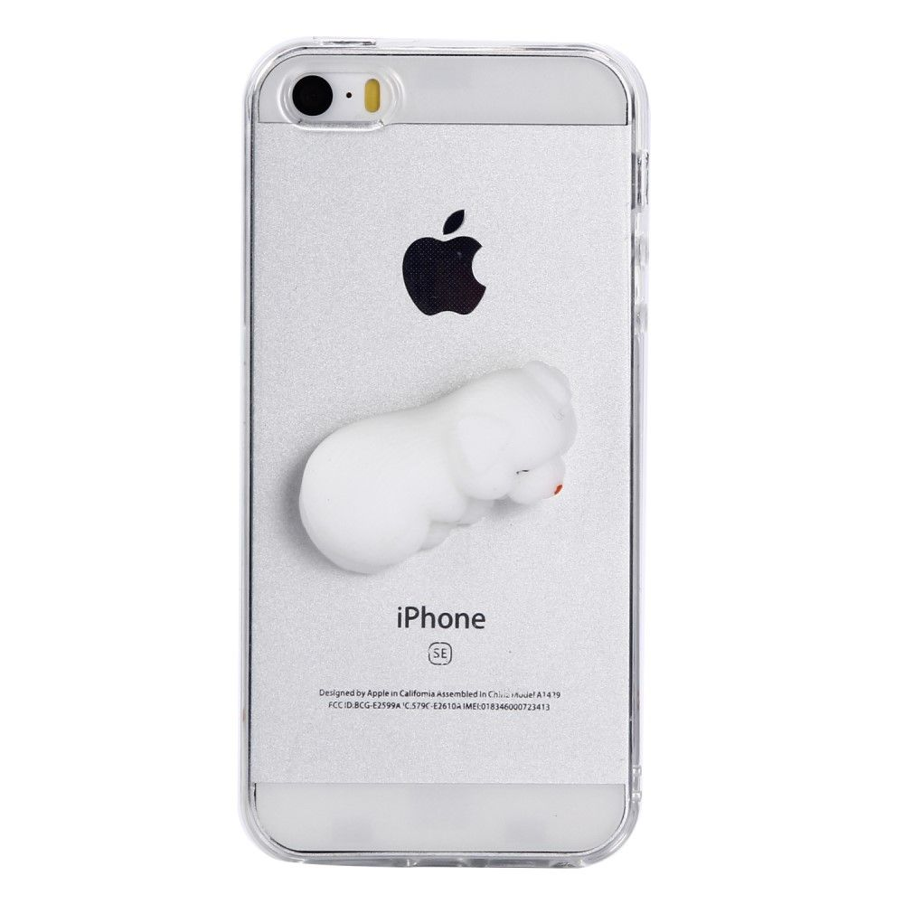 iPhone 5/5s/SE - Squishy 3D Toy - Sovende kat