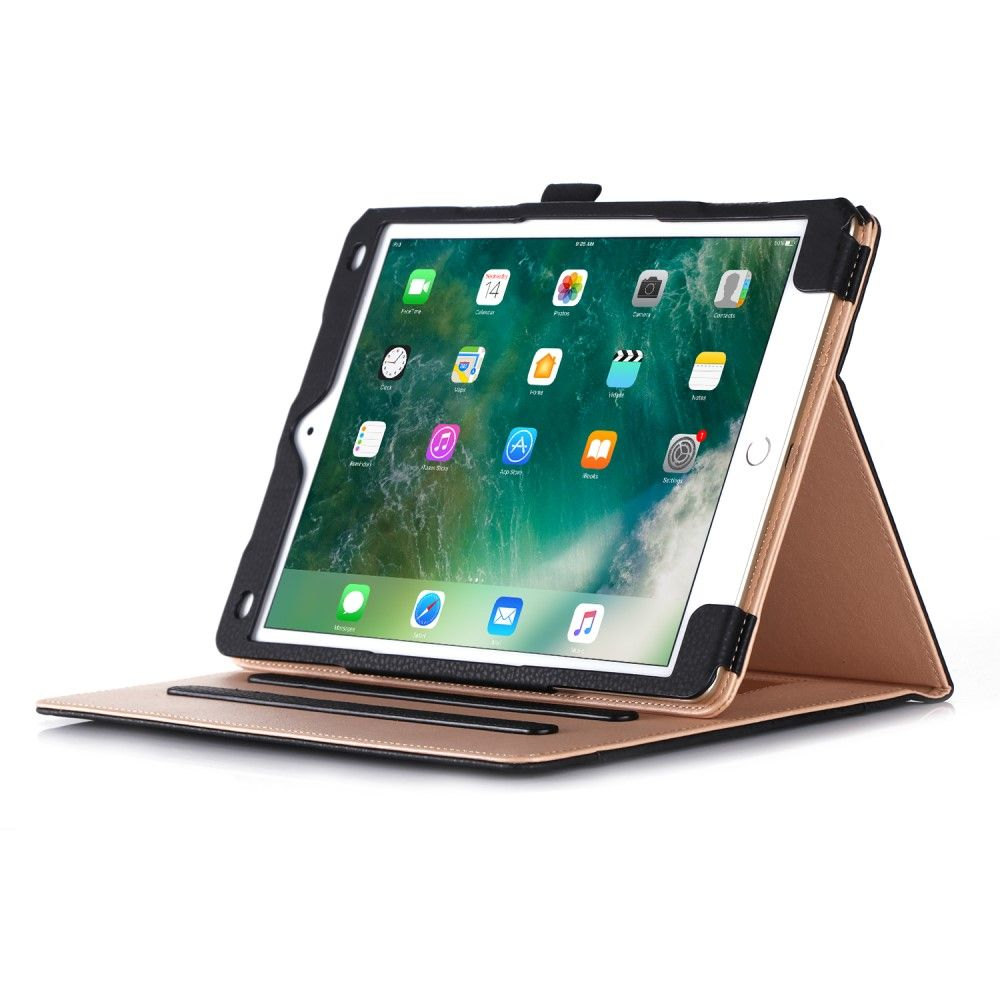 Image of   iPad Pro 10.5 - Læder etui m/lomme - Sort