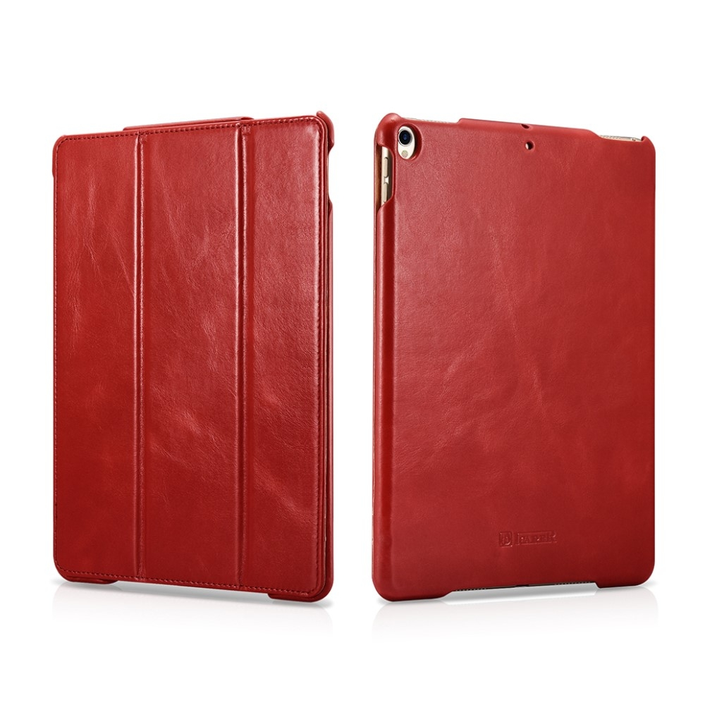 Image of   iPad Air 10.5 (2019) / Pro 10.5 - Icarer Vintage Series ægte læder etui - Rød