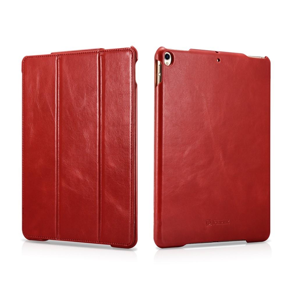 Image of   iPad Air 10.5 (2019) - Icarer Vintage Series ægte læder etui - Rød