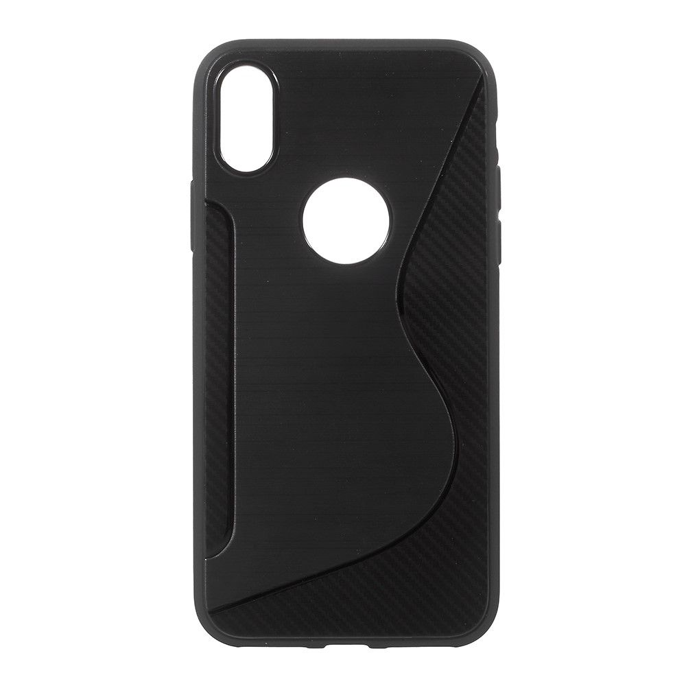 Image of   iPhone X - S-Line TPU cover - Sort