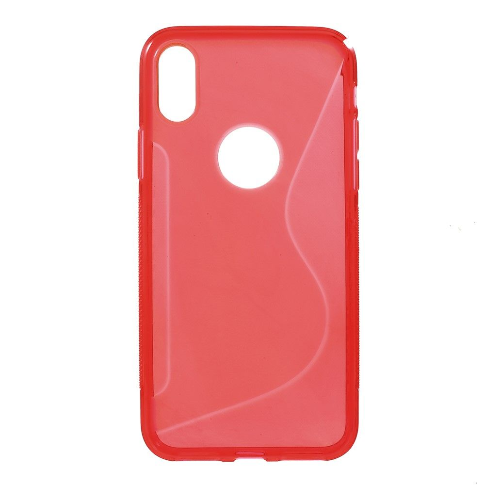 Image of   iPhone X - S-Line TPU cover - Rød