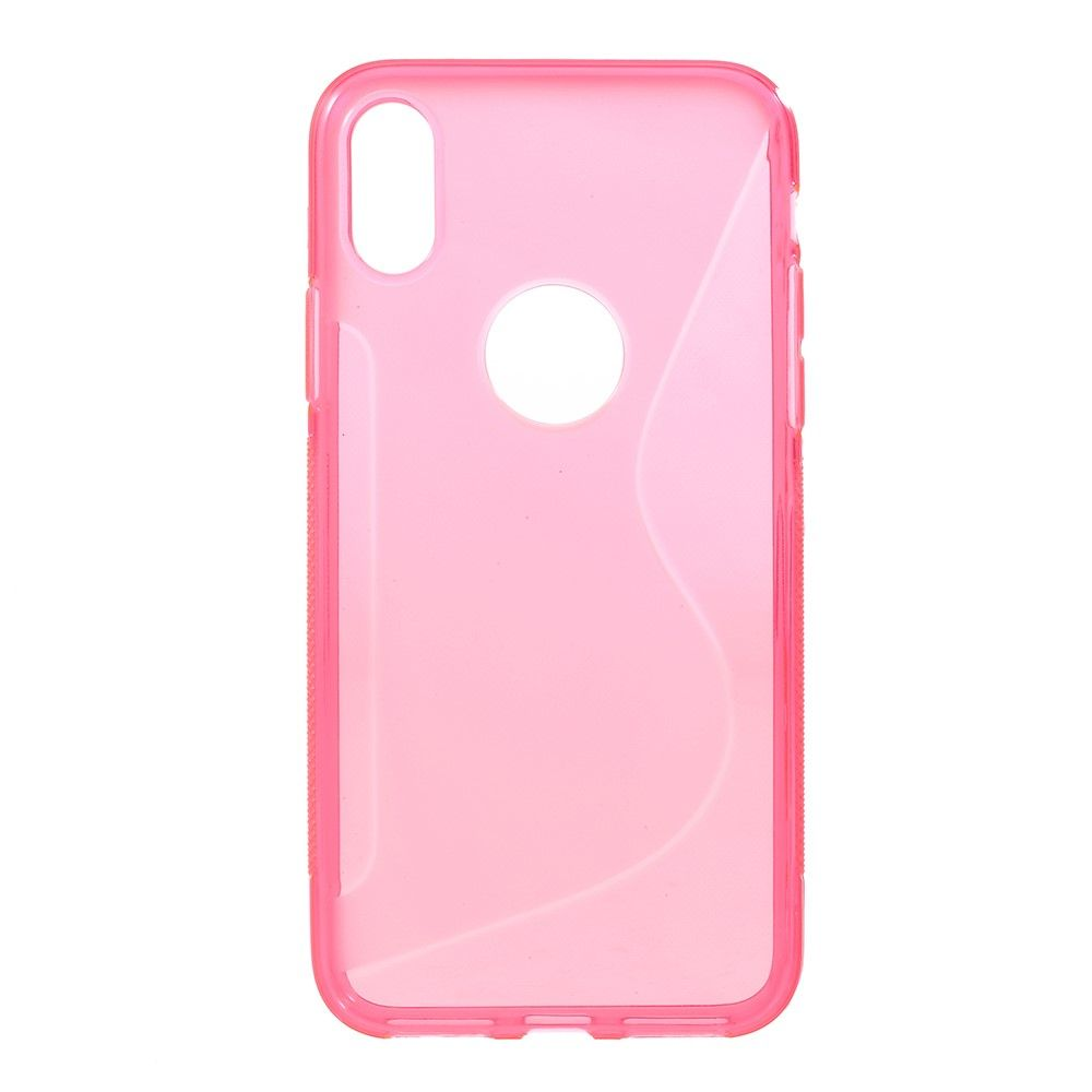 Image of   iPhone X - S-Line TPU cover - Rosa