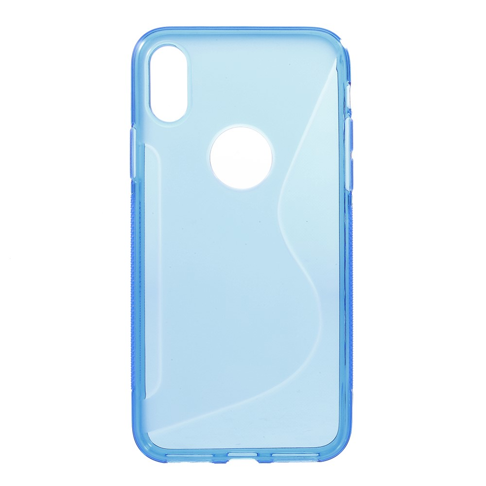 Image of   iPhone X - S-Line TPU cover - Blå