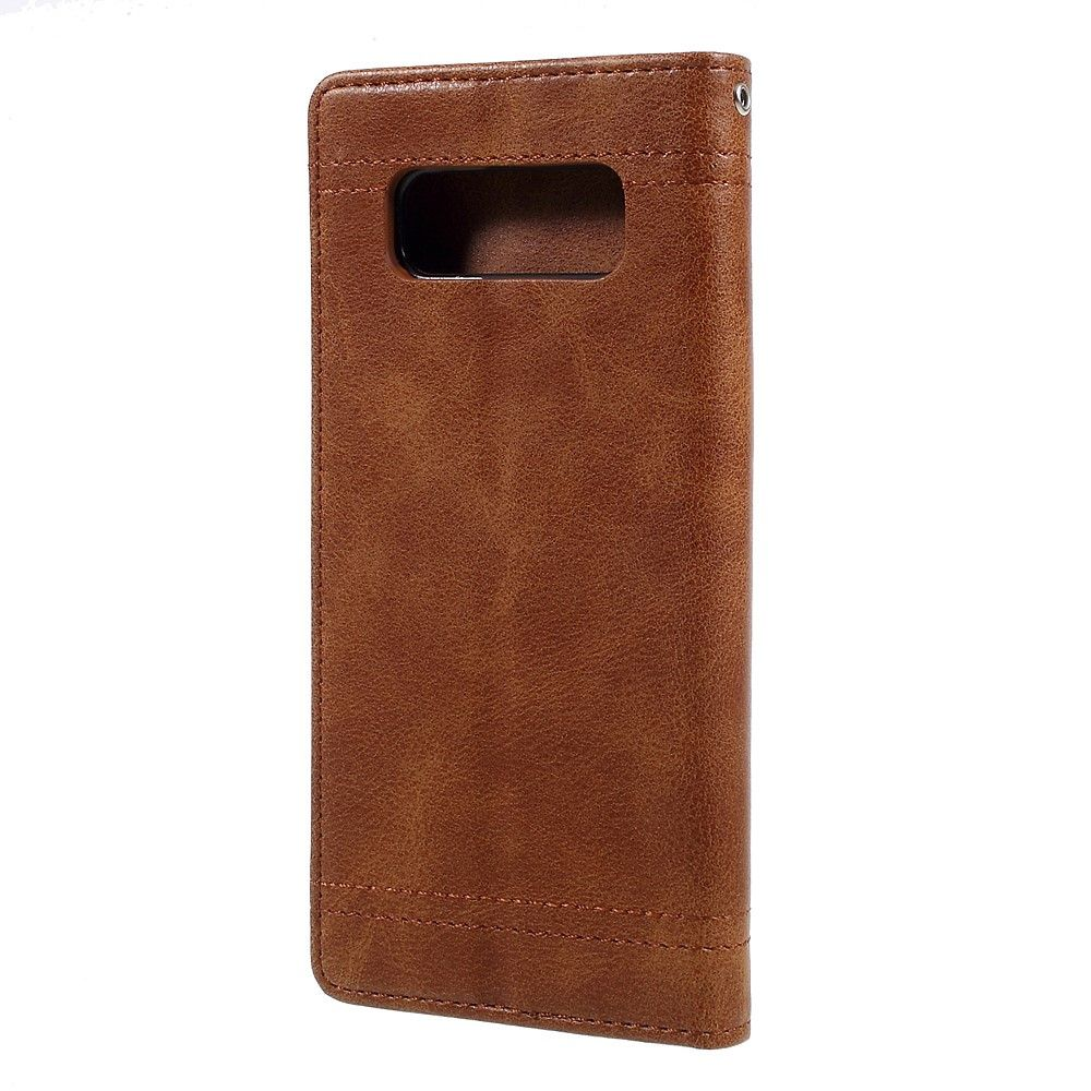 Image of   Galaxy Note 8 - Vintage Style læder cover - Brun