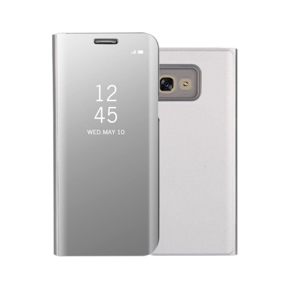 Image of   Galaxy A3 (2017) - Mirror View læder cover - Sølv