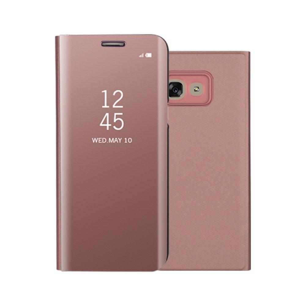 Image of   Galaxy A3 (2017) - Mirror View læder cover - Rosa guld
