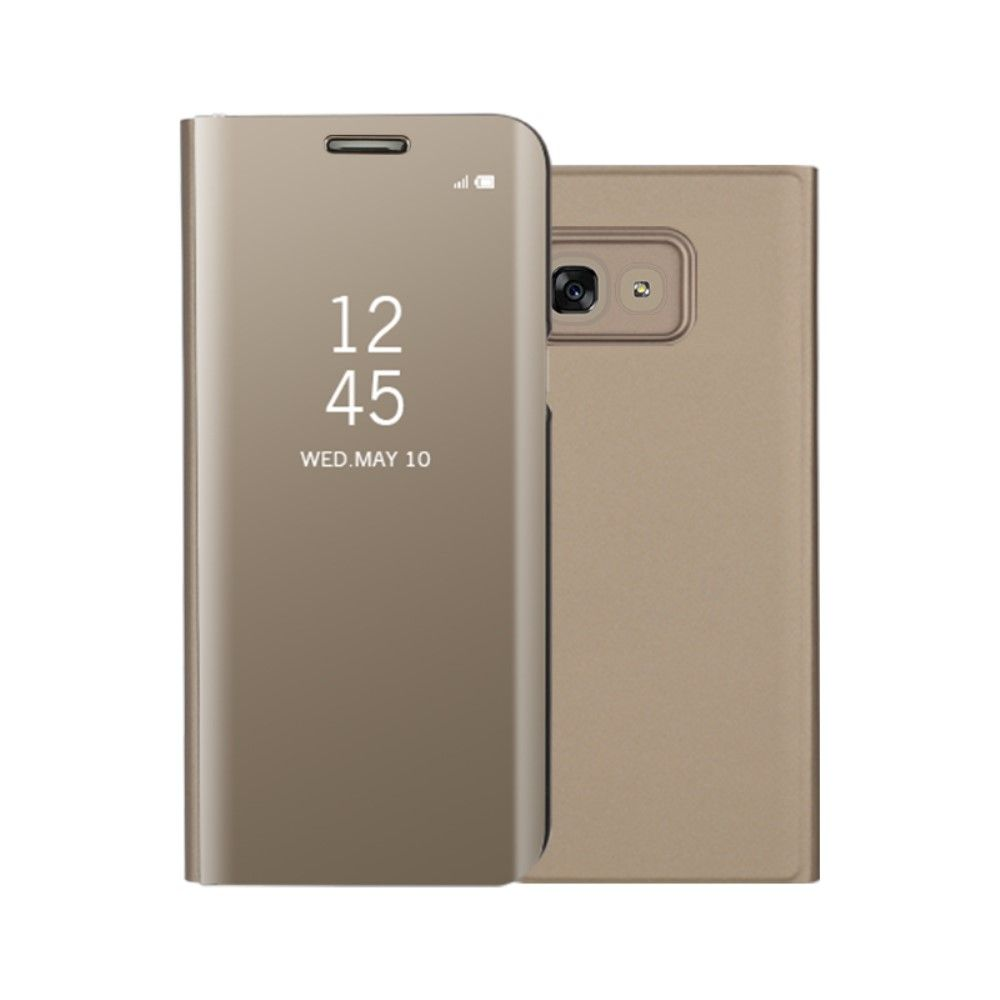 Image of   Galaxy A5 (2017) - Mirror View læder cover - Guld