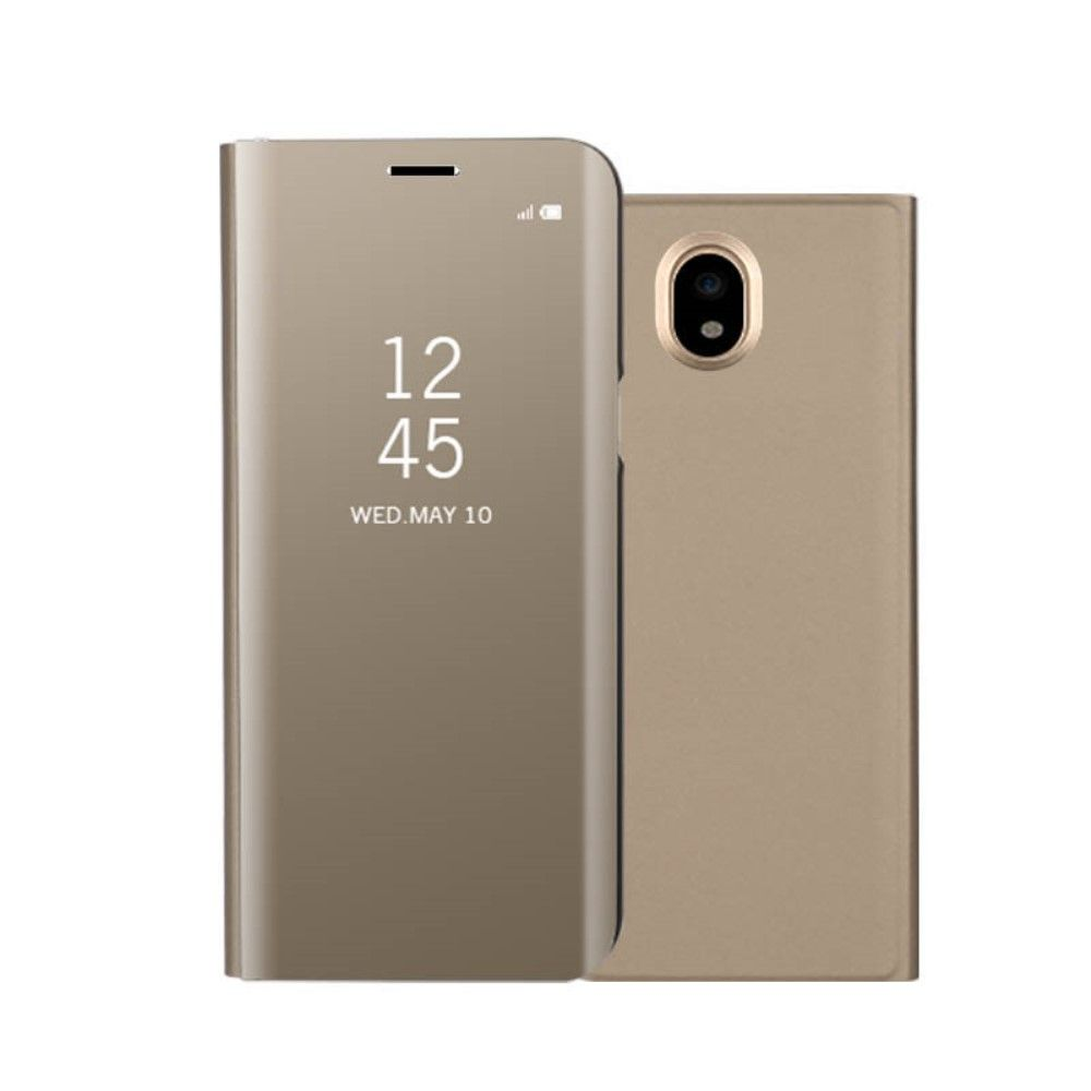 Image of   Galaxy J3 (2017) - Mirror View læder cover - Guld