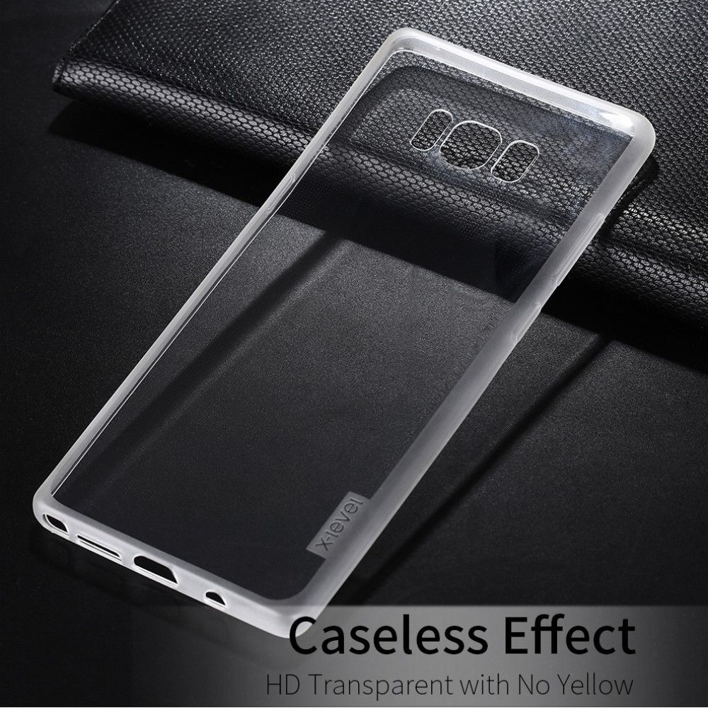 Image of   Galaxy Note 8 - TPU klart cover X-LEVEL anti-slip - Transparent