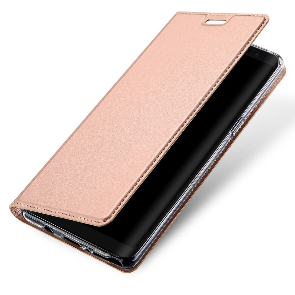 Image of   Galaxy Note 8 - DUX DUCIS Skin Pro læder cover - Rosa guld